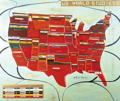 """""""US World Studies III"""" 60"""" x 72"""""""